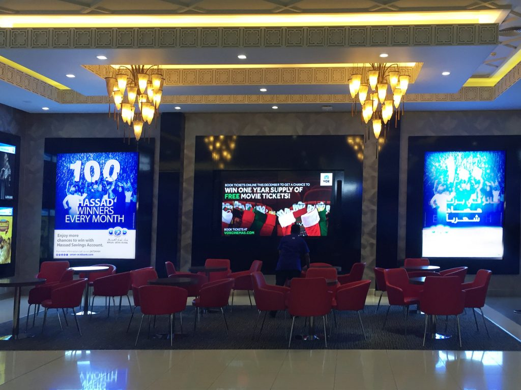 LED Boards at VOX Cinemas City Centre Muscat
