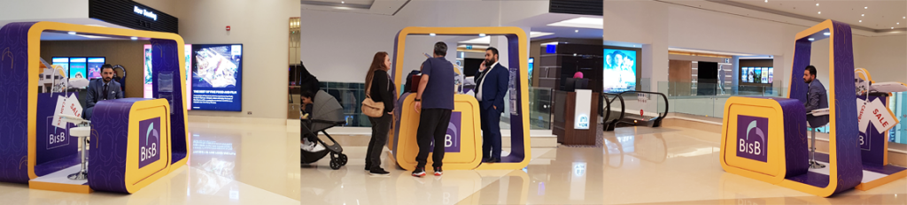 Cinema Activation Stand at VOX Cinemas, The Avenues Mall in Bahrain by client BISB