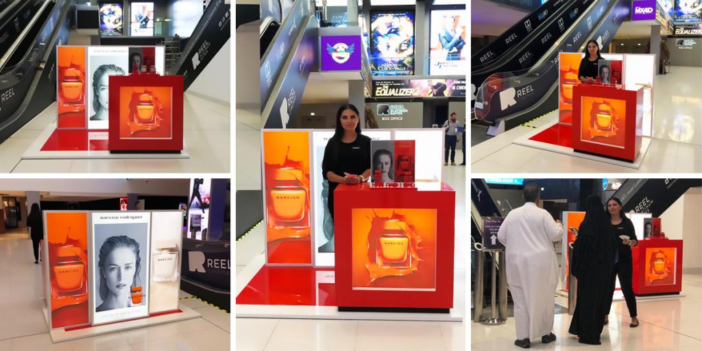 Narciso Sampling Activity at Reel Cinemas - The Dubai Mall