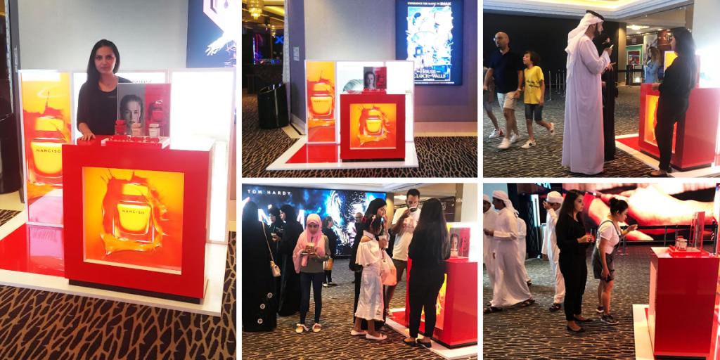 Narciso Sampling Activity at VOX Cinemas - Mall of the Emirates