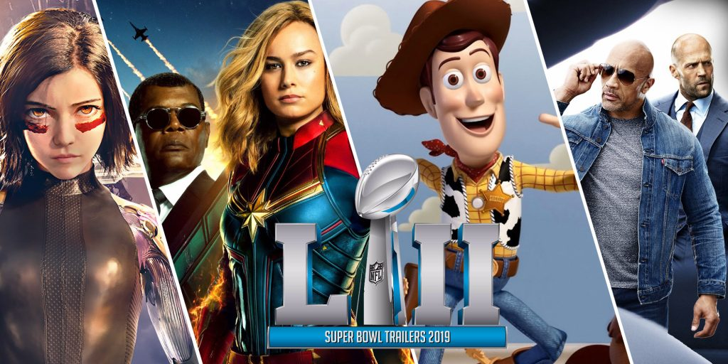 Movie trailers that featured during Super Bowl 2019