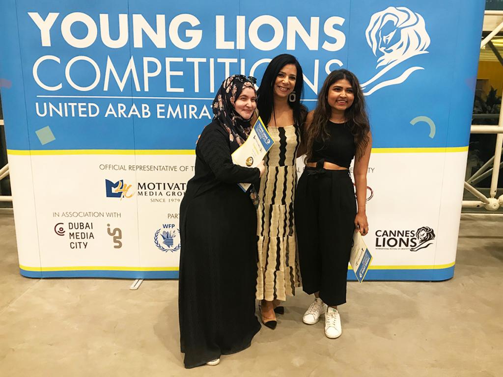 Arwa Al Jundi & Warsha J. Dhemani from Livingroom Communications win Gold