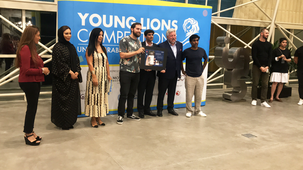 Felipe and Sabine win Bronze at the UAE Young Lion 2019