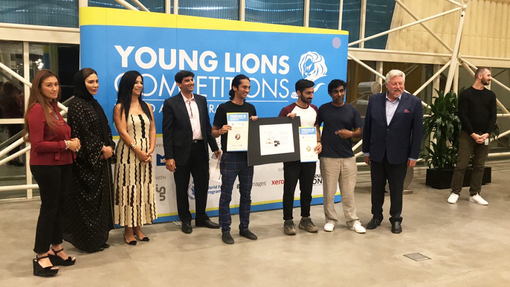 Gaurav and Sumer win Silver at the UAE Young Lions Digital Competition 2019