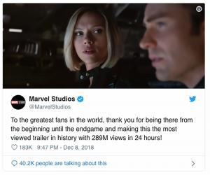 Avengers: Endgame Highest Trailer Views in 24 Hours