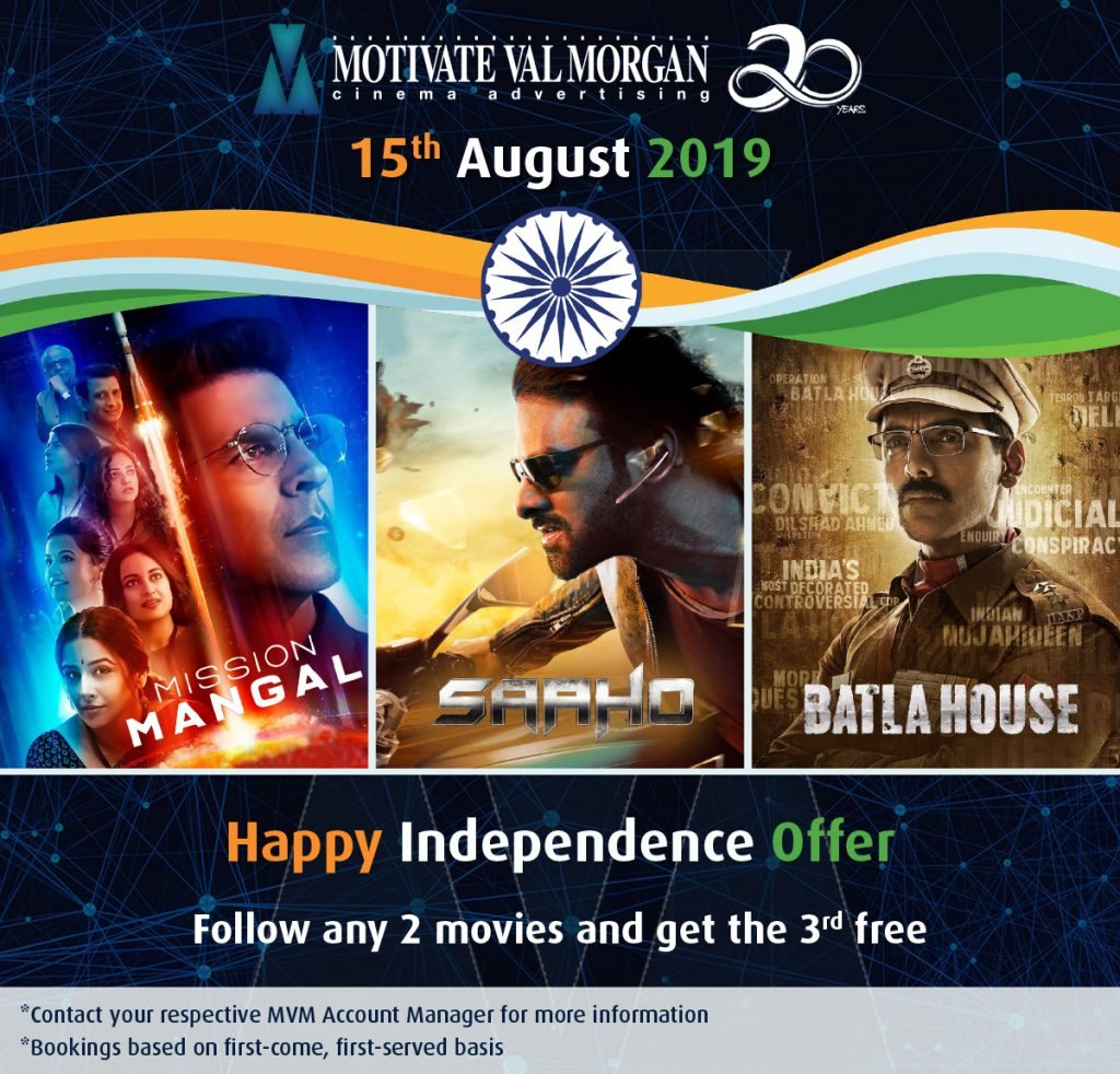 Indian Independence Day Movie Offer