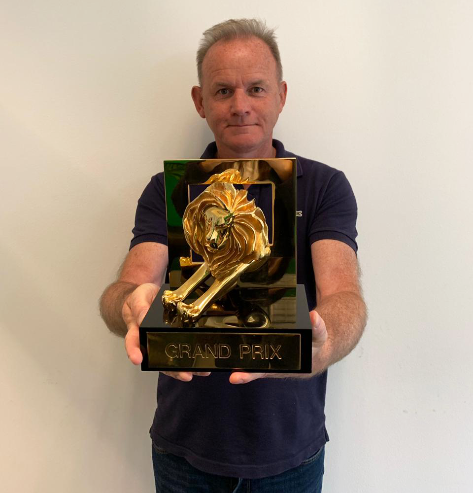 Paul Shearer - Chief Creative Officer at Impact BBDO MENA with the Grand Prix Lion for The Black Edition