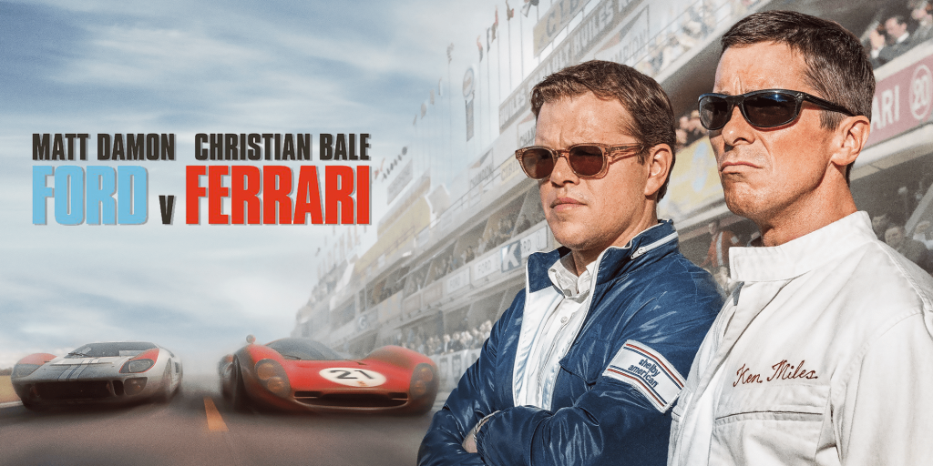 Belt up for the Greatest Car Racing Showdown - Ford v Ferrari!