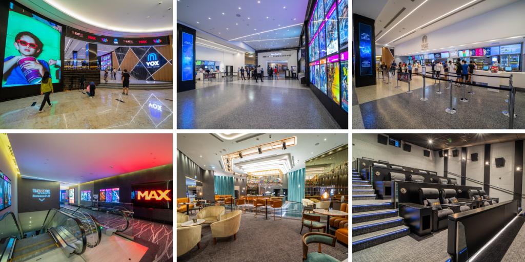 Inside VOX Cinemas at Nakheel Mall in Dubai - UAE