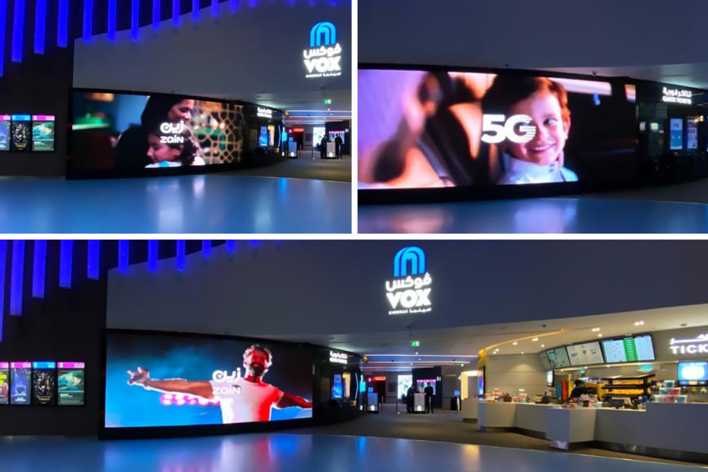 Zain Saudi Arabia LED screen - VOX Cinemas