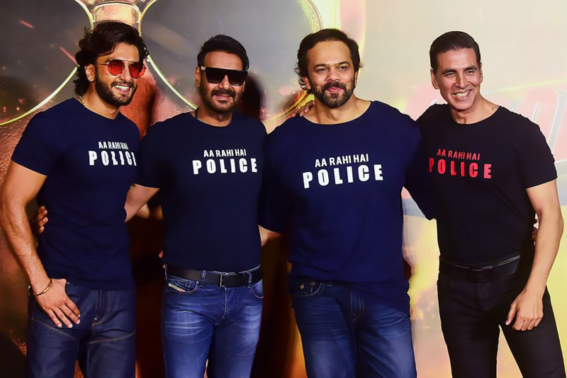 Raveer, Akshay, Ajay and Rohit Shetty