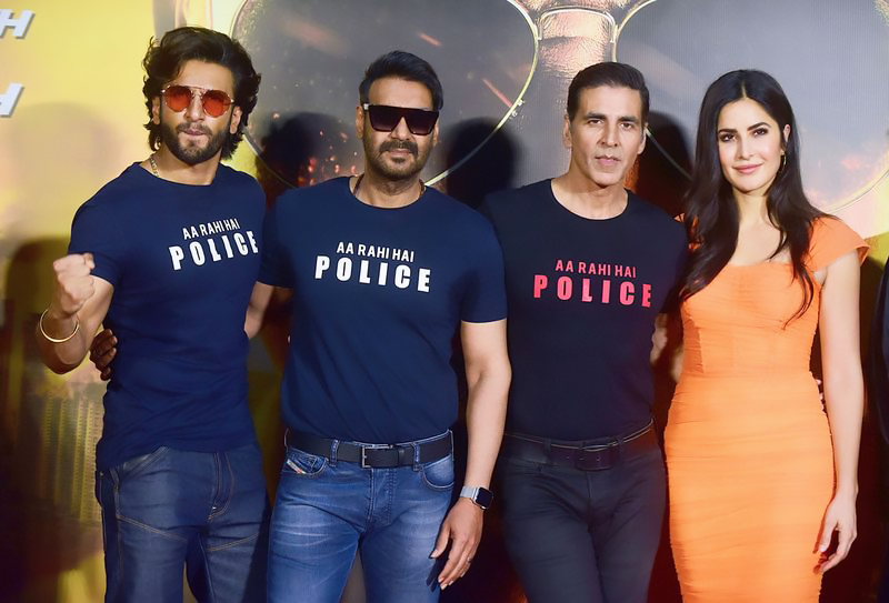 Cast of Bollywood Movie Sooryavanshi