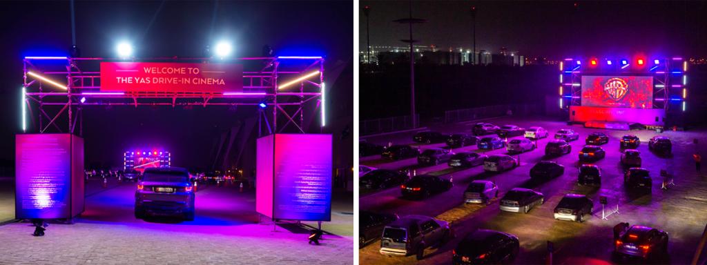 Yas Marina Circuit Drive-in Cinema by Reel