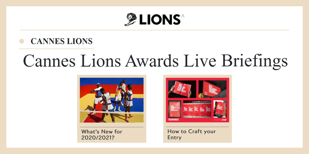 Mini-Series Live Briefings by Cannes Lions Awards