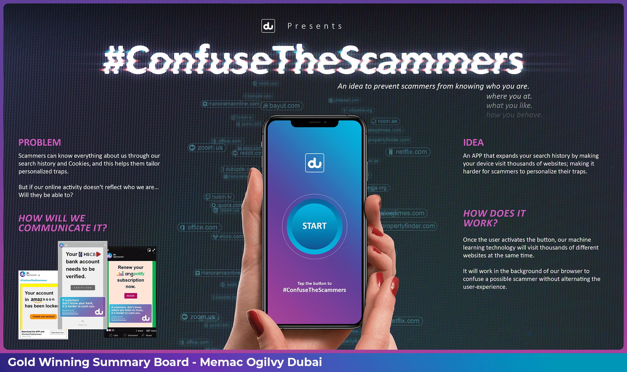 Gold Winning Submission by Memac Ogilvy at the UAE Young Lions Digital Competition 2021