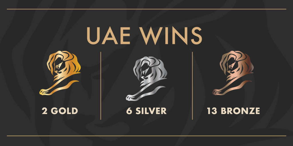 UAE Wins 21 Lions at The Cannes Lions Festival 2021